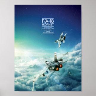 Poster del avispón de McDonnell Douglas F/A-18