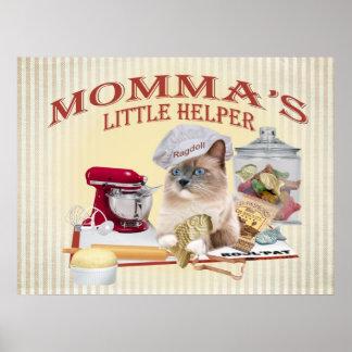 """Poster del ayudante del Lit de Ragdoll Momma """""""
