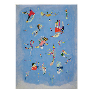 Poster del azul de cielo de Kandinsky