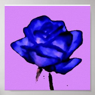 Poster del azul de la lavanda