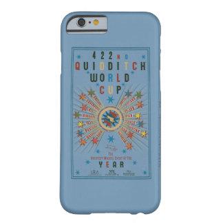 Poster del azul del mundial de Quidditch Funda De iPhone 6 Barely There