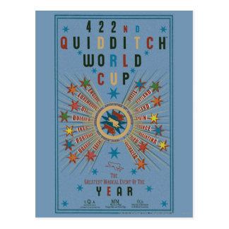 Poster del azul del mundial de Quidditch Tarjeta Postal