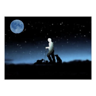 Poster del azul del pastor de las ovejas
