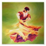 Poster del bailarín del flamenco