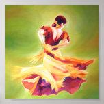 Poster del bailarín del flamenco mini