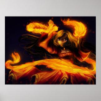 Poster del bailarín del fuego