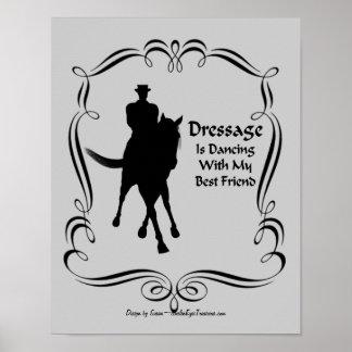 Poster del baile de la silueta del jinete del póster