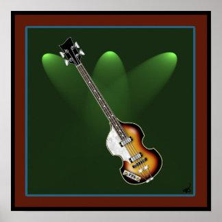 Poster del bajo del violín