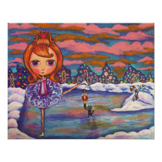 Poster del ballet del hielo del cascanueces