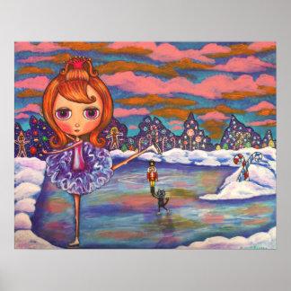 Poster del ballet del hielo del cascanueces póster