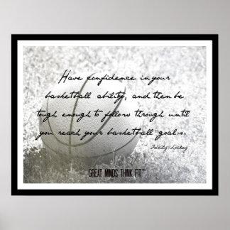 Poster del baloncesto con la cita 017