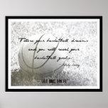 Poster del baloncesto con la cita 018