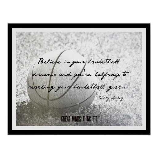 Poster del baloncesto con la cita 020
