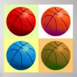 Poster del baloncesto del arte pop