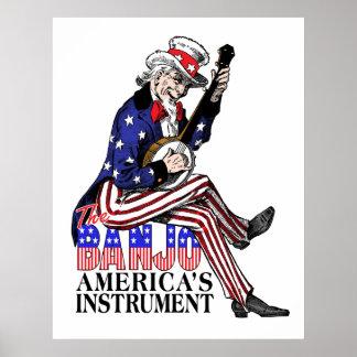 Poster del banjo de América