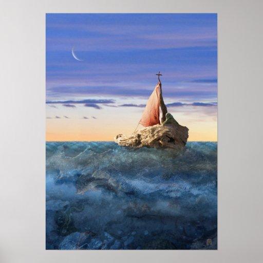 Poster del barco de Brendan