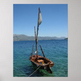 Poster del barco de navegación