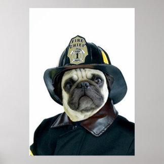 Poster del barro amasado del bombero
