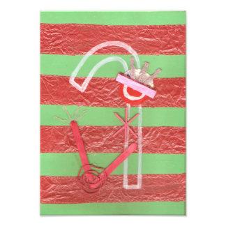 Poster del bastón de la señora caramelo arte con fotos