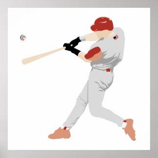 Poster del bateador del béisbol