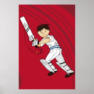 Poster del bateador del grillo
