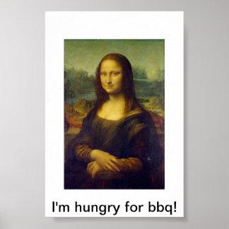 Poster del Bbq de Mona Lisa