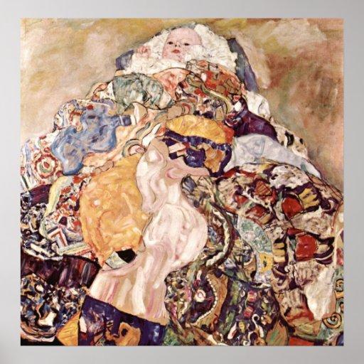 Poster del bebé del ~ de Gustavo Klimt