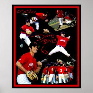 Poster del béisbol de Danny