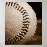 Poster del béisbol de la sepia
