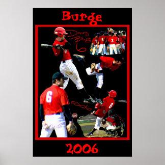 Poster del béisbol del estudiante de primer año de