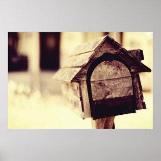 Poster del Birdhouse del buzón