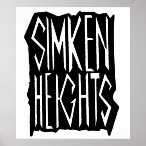 Poster del blanco de las alturas de Simken