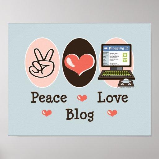 Poster del blog del amor de la paz