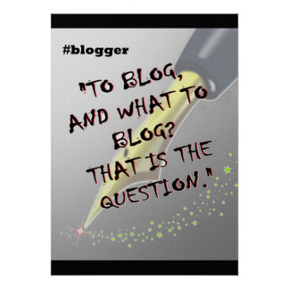 Poster del Blogger 20x28 de Hashtag Póster