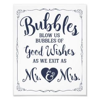 Poster del boda de la muestra de la burbuja del fotografía