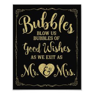 Poster del boda de la muestra de la burbuja del fotografías