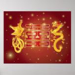 Poster del boda de Phoenix del dragón