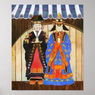 Poster del boda del rey y de la reina