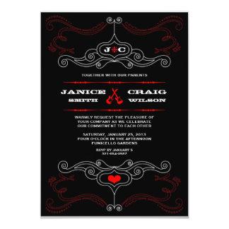 Poster del boda del rollo de la roca n invitación 12,7 x 17,8 cm