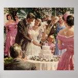 Poster del boda del vintage