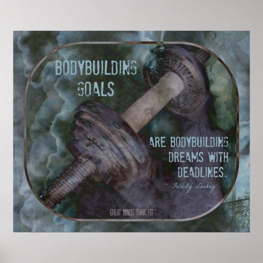 Poster del Bodybuilding con la cita 001 de las Póster