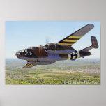 Poster del bombardero de B-25 Mitchell