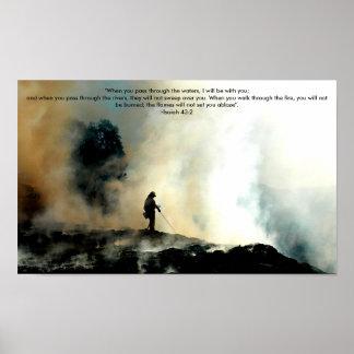Poster del bombero - 43:2 de Isaías