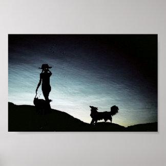 Poster del border collie de la manada de la madrug