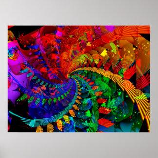 Poster del bosque del arco iris