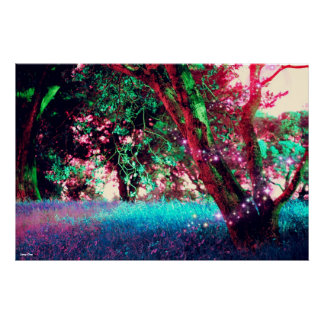 Poster del bosque - grande 33 x 22
