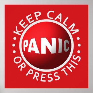 Poster del botón de pánico