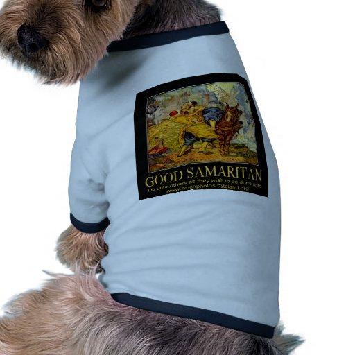 Poster del buen samaritano camisa de mascota
