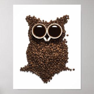 Poster del búho del café