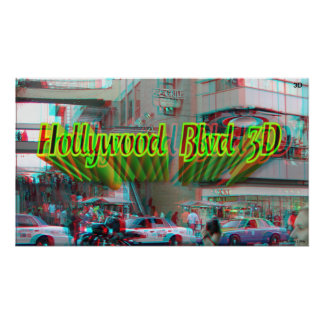 Poster del bulevar 3D de Hollywood